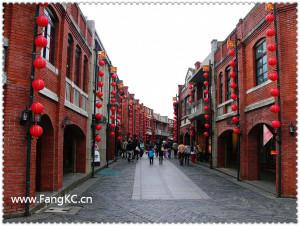 传统艺术中心里的一条街,看上去和大陆的民俗风情街没什么不同